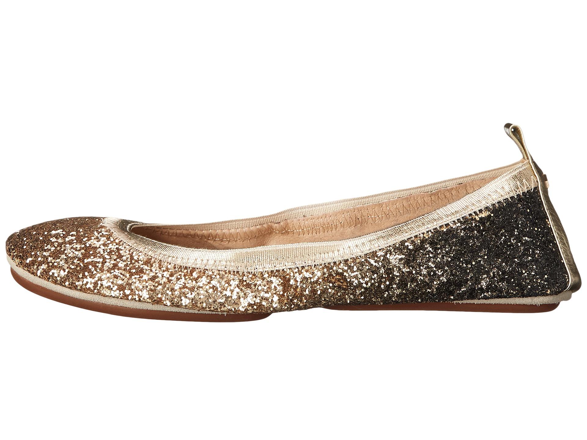 9c13875df48c Yosi Samra Serena Ombre Chunky Glitter Fold Up Flat in Metallic - Lyst