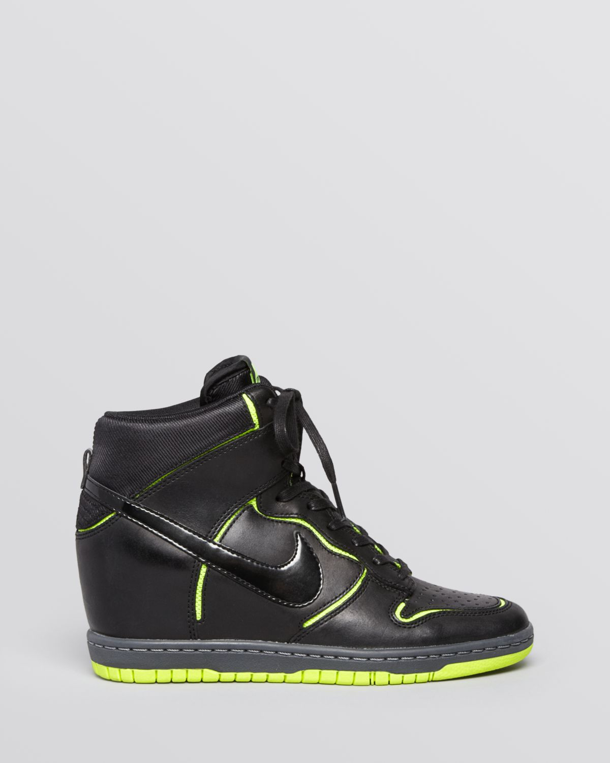 994bbb1c3c7 usa nike wmns dunk sky hi blackout 74023 138f4  buy gallery. previously  sold at bloomingdales womens wedge sneakers womens nike dunk womens nike  dunk