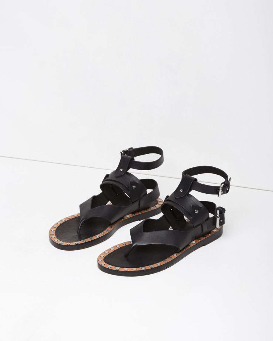Lyst Isabel Marant Justy Leather Sandals In Black