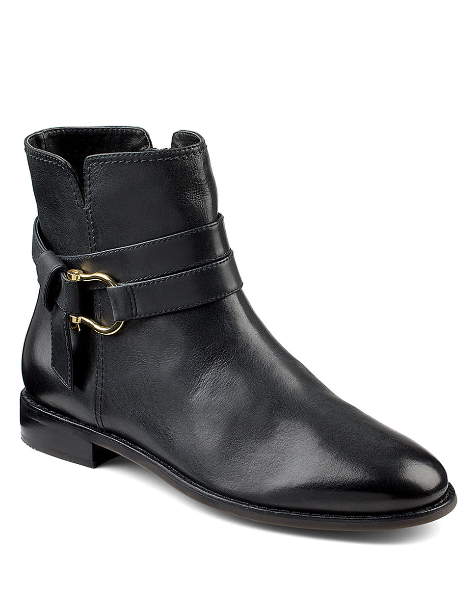 sperry top sider clinton leather ankle boots in black lyst