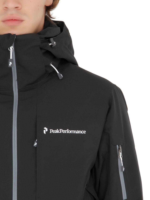 peak performance maroon j insulated ski jacket in black. Black Bedroom Furniture Sets. Home Design Ideas