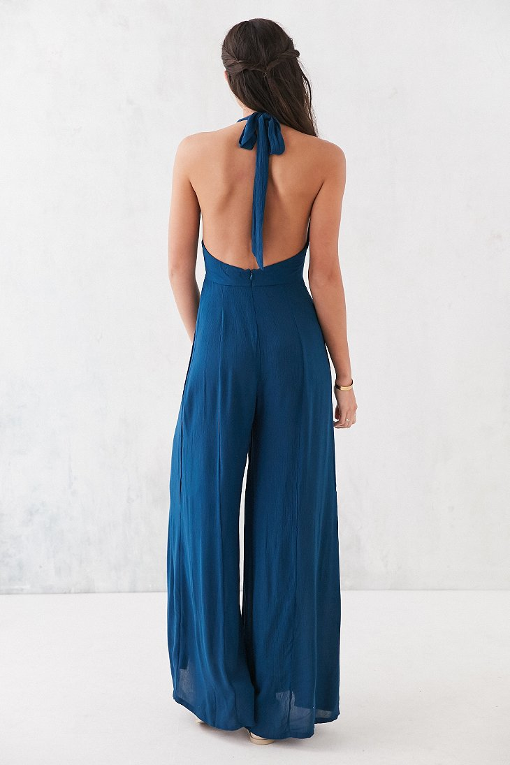 5fa8a377299 Lyst - Kimchi Blue Brandy Halter Jumpsuit in Blue