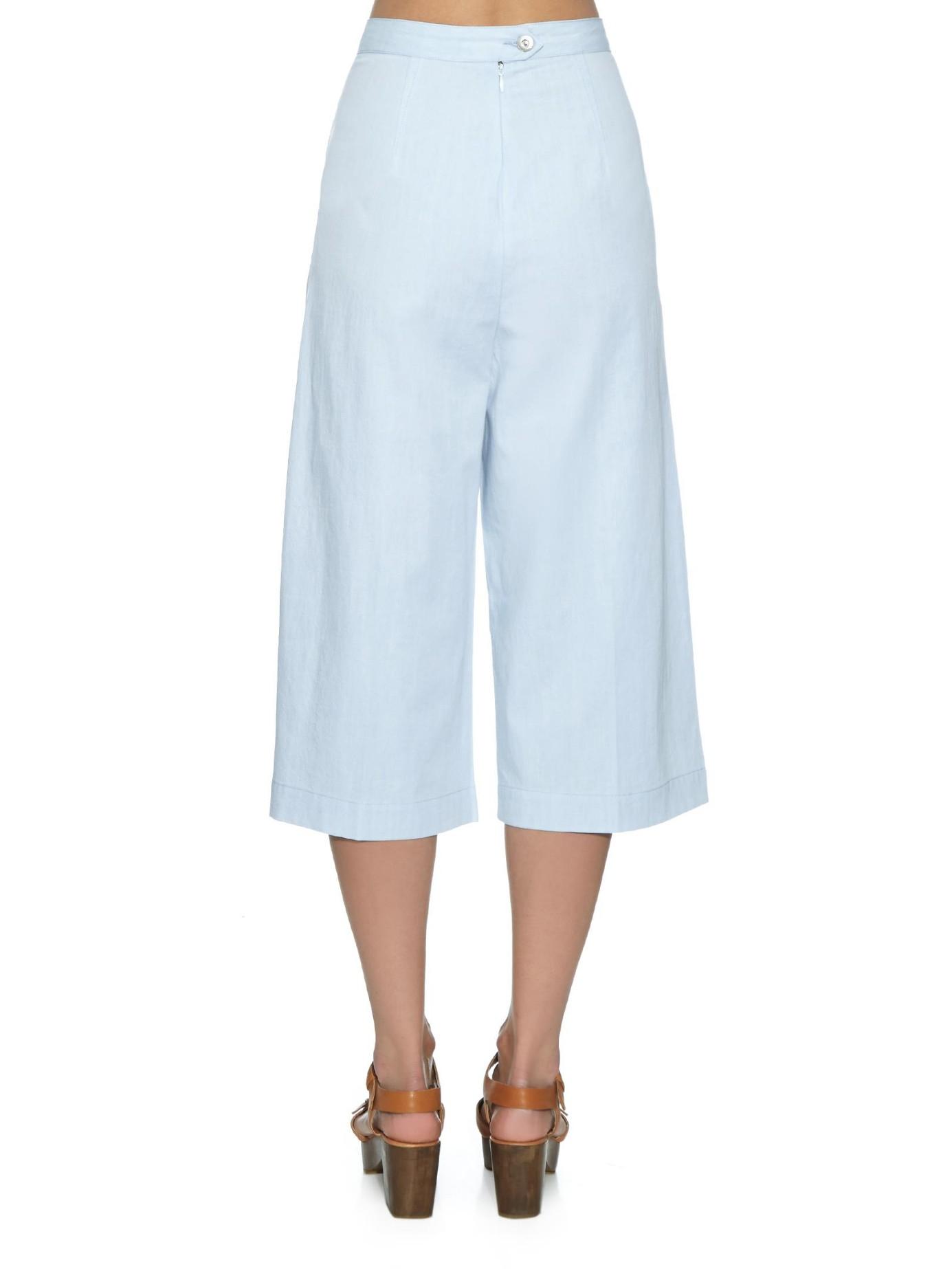 3x1 Denim Culottes in Blue