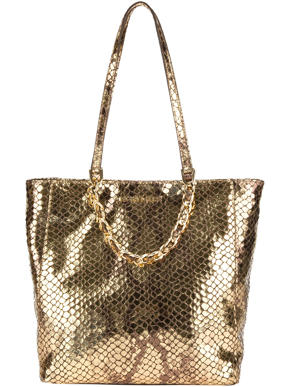 d7a69b58d89f australia michael kors harper medium convertible satchel 5fbb1 24d68  low  cost michael michael kors harper shopper tote in metallic lyst e6a3e 28235