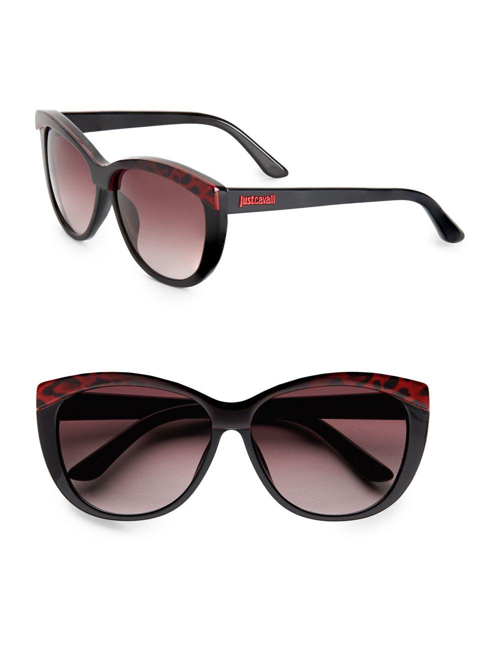 4629501caac Lyst - Just Cavalli 60mm Two-tone Cat s-eye Sunglasses in Black