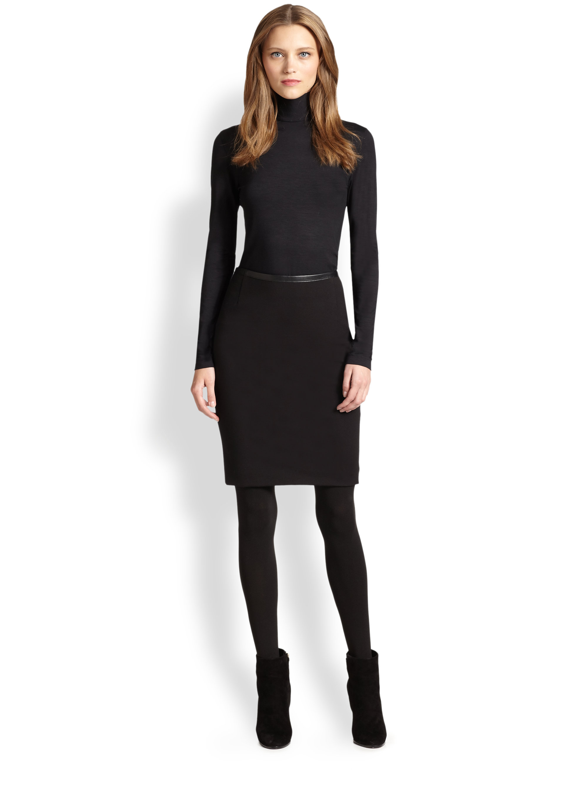 Lyst - Missguided Mariota Faux Leather Pencil Skirt