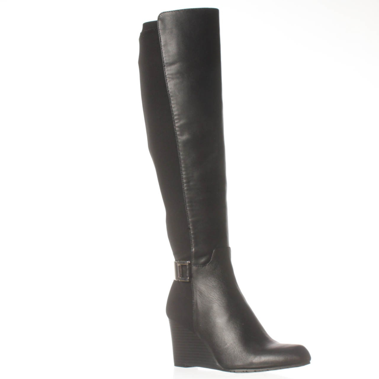 b165a1063f2 Lyst - Calvin Klein Sama Wide Calf Knee-high Boot in Black