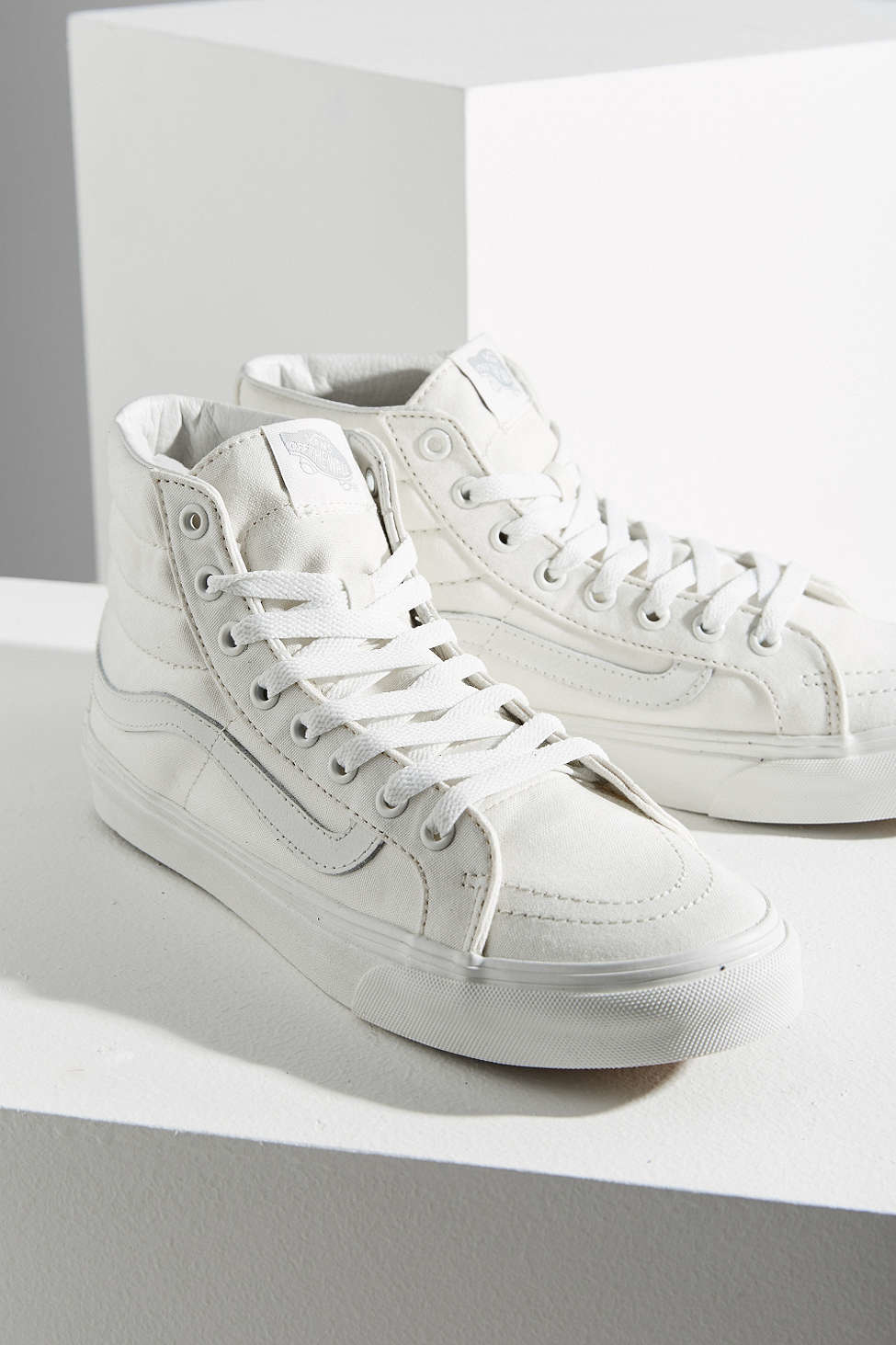 ffbb1ac3d5 Lyst - Vans Blanc Sk8-hi Slim Sneaker in Natural for Men