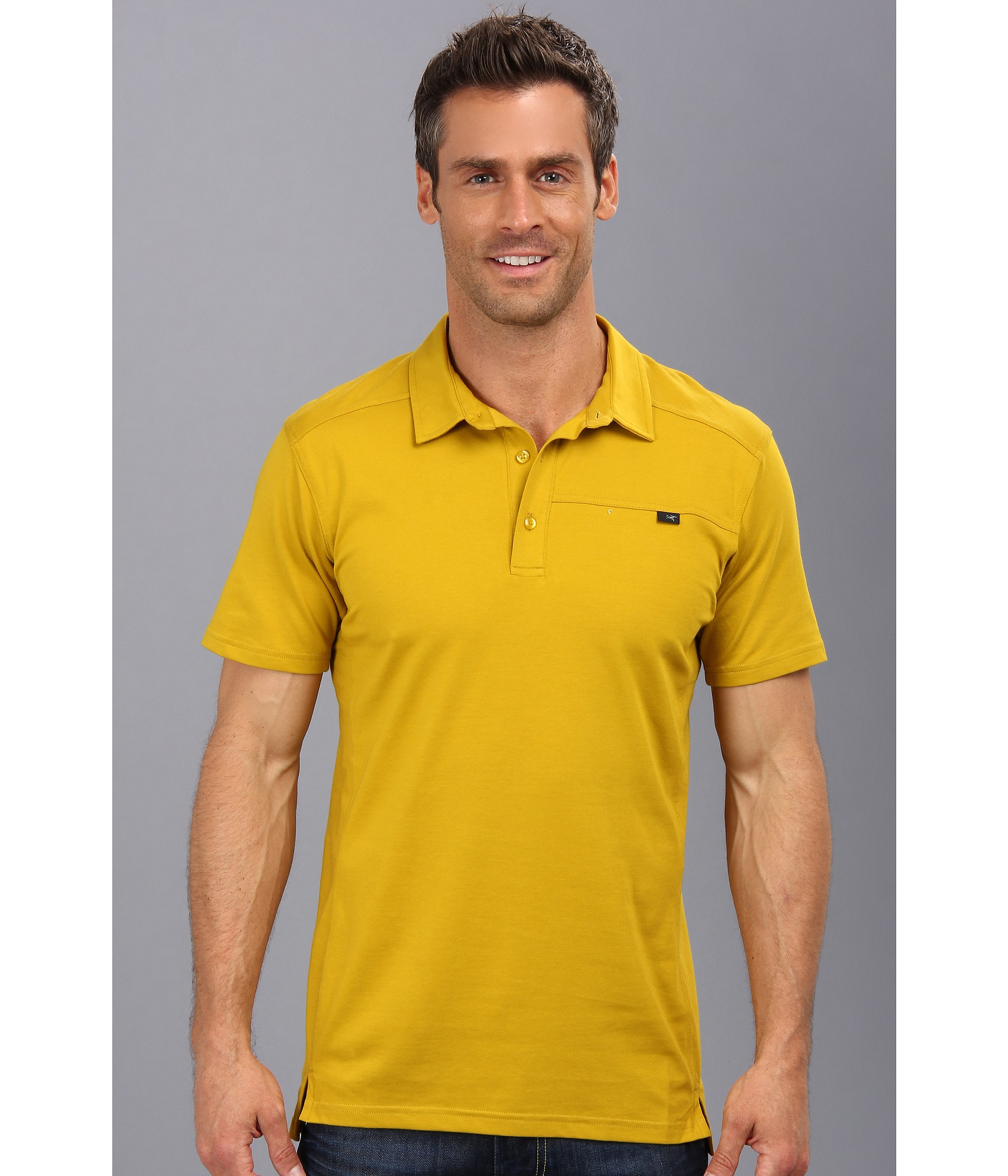 Lyst Arcteryx Captive Polo Ss In Yellow For Men