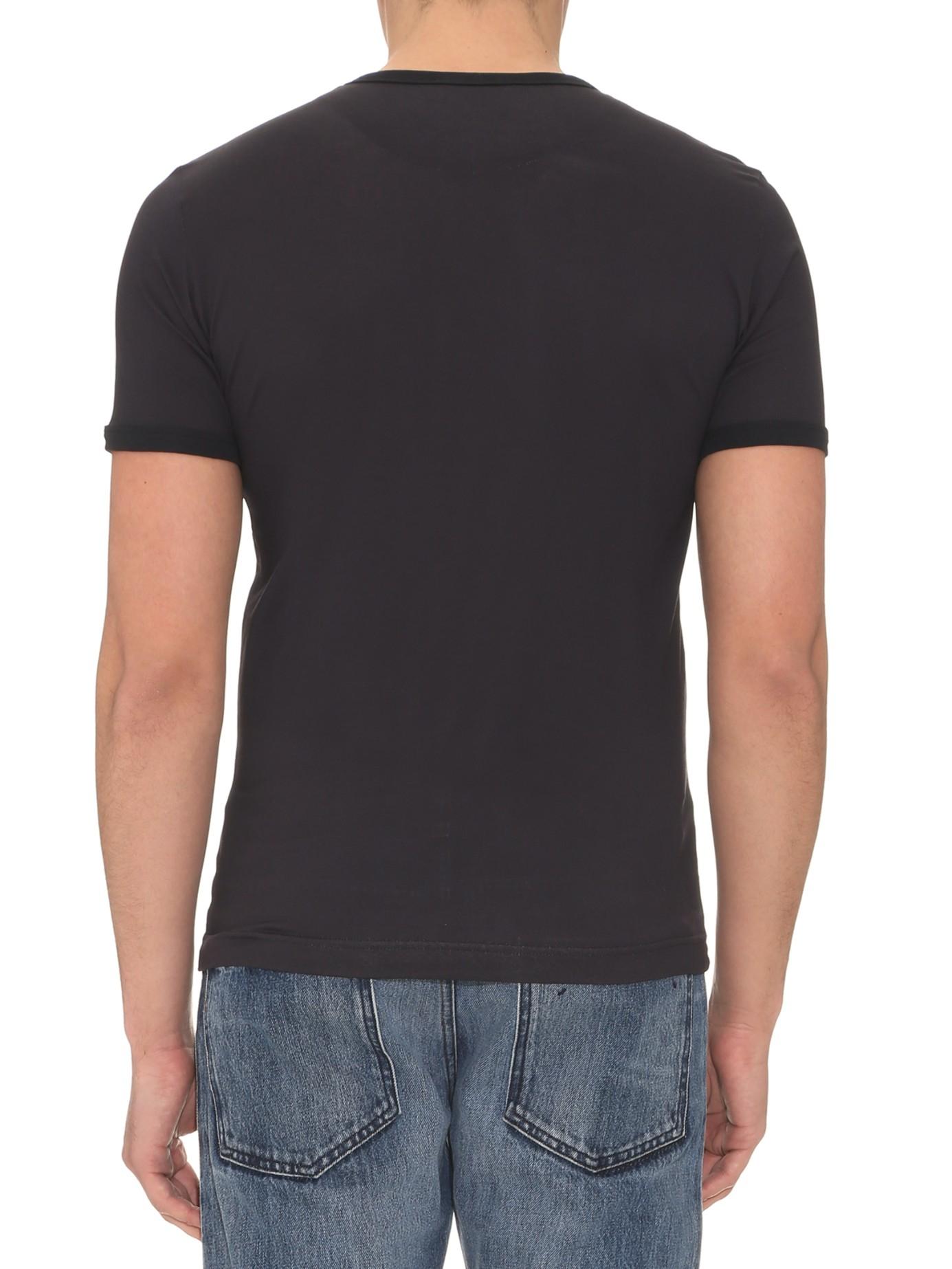 Dolce gabbana dragon print cotton jersey t shirt in for Dolce and gabbana printed t shirts