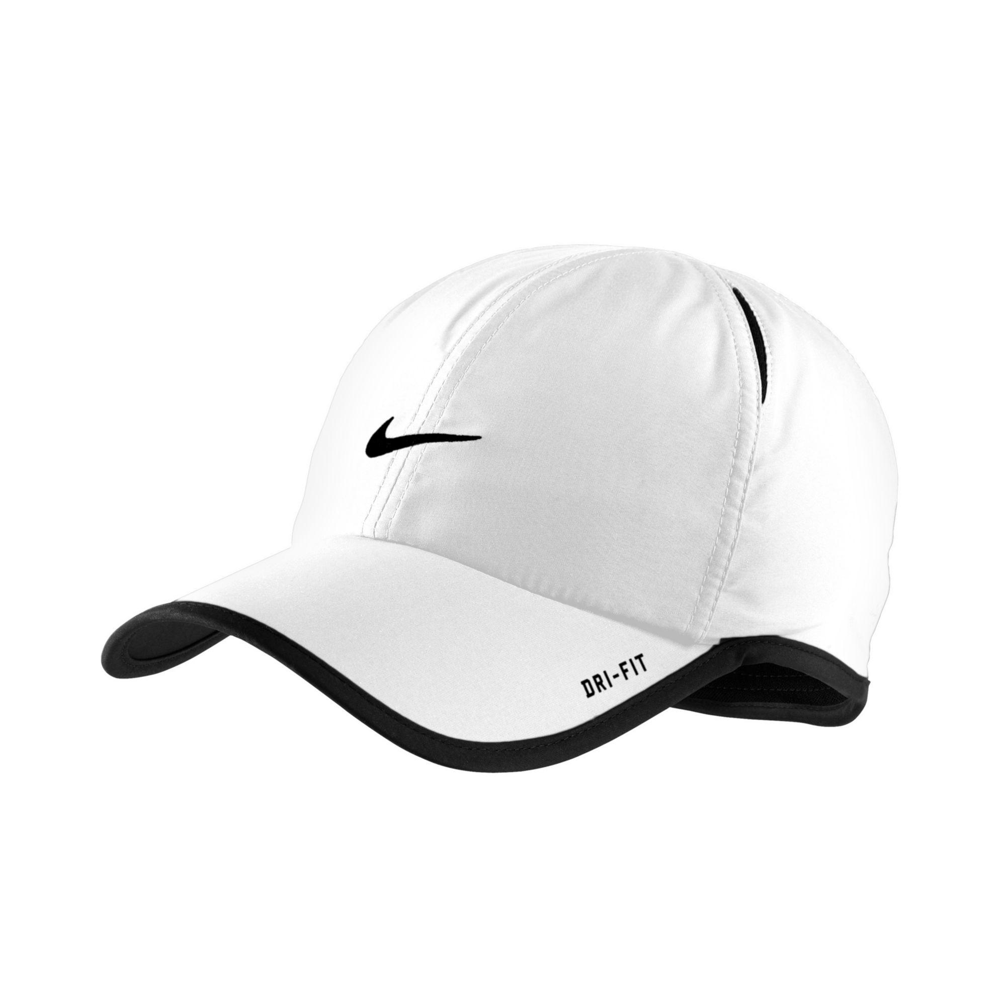 nike featherlight cap; nike cap black and white featherlight