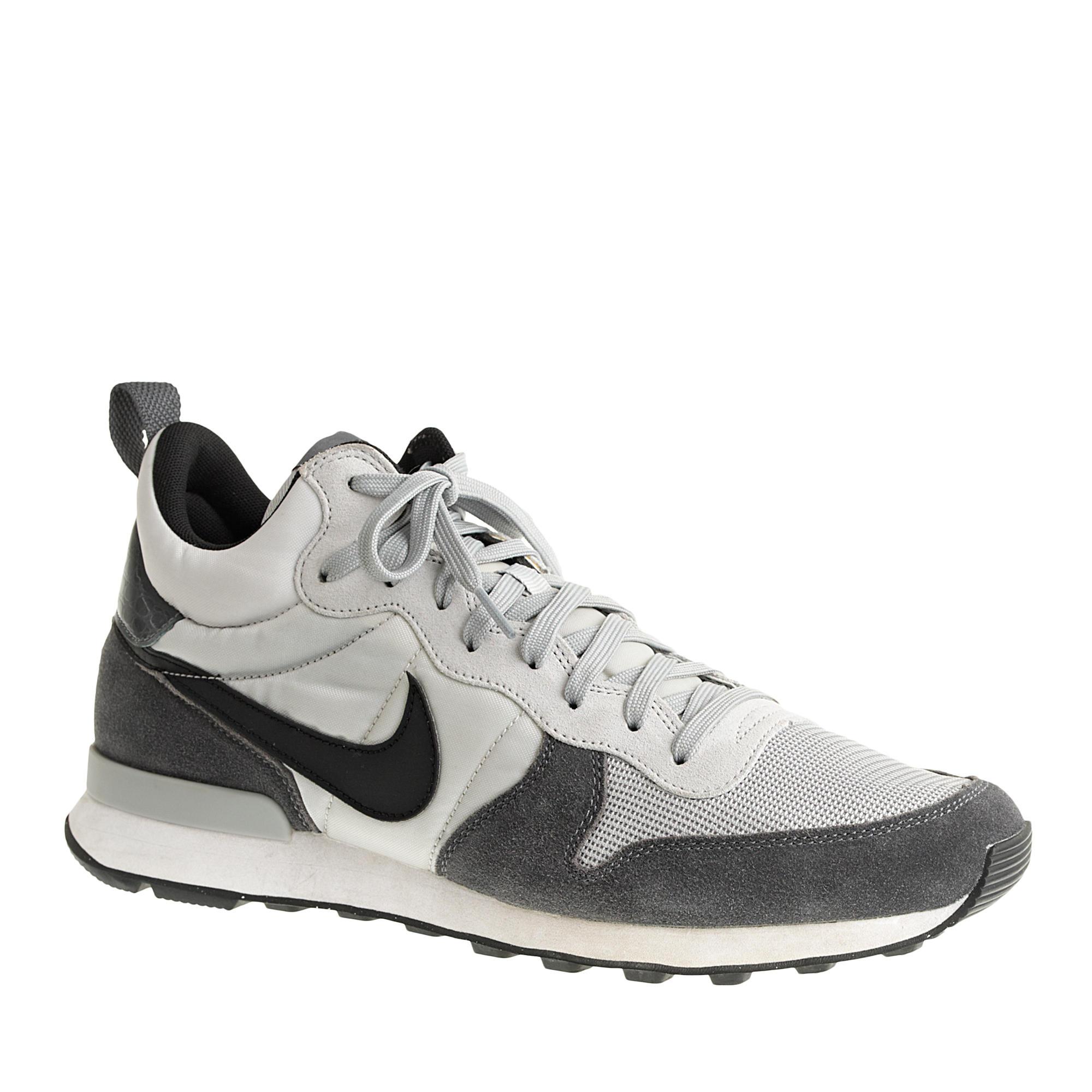 8d68007aded Lyst - J.Crew Men s Nike Internationalist Mid Sneakers in Gray for Men