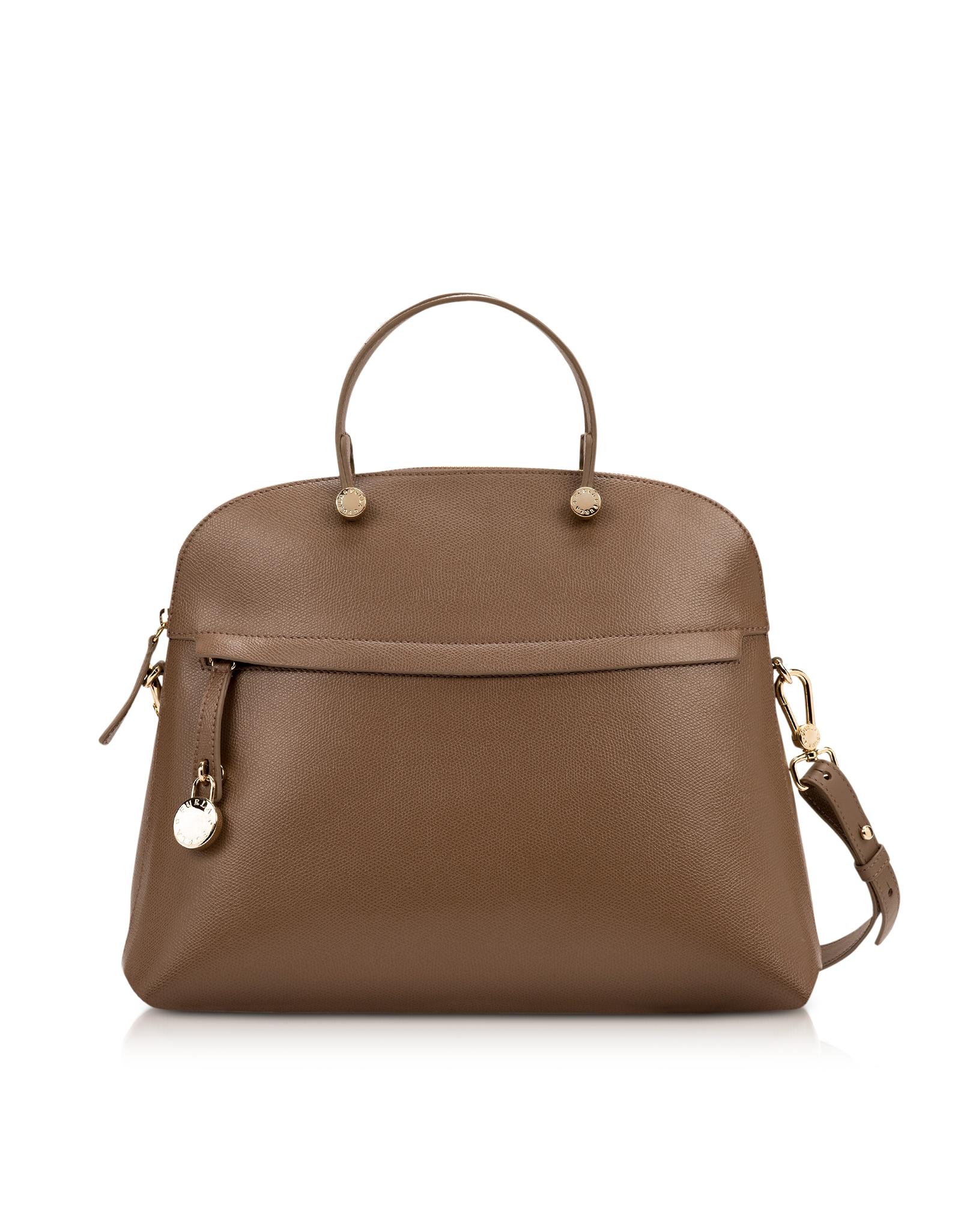27dc5667d76df Lyst - Furla Piper Daino Medium Leather Dome Bag in Metallic