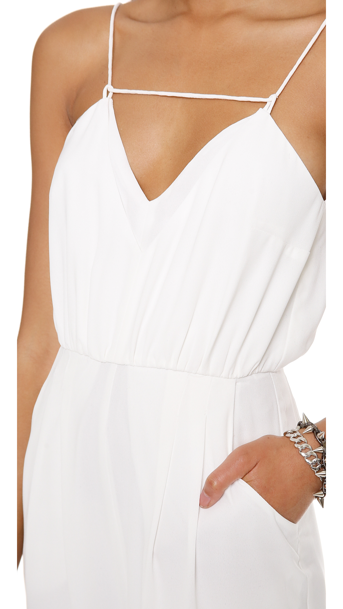a43cec46df46 Lyst - Finders Keepers The Someday Jumpsuit - Dark Navy in White