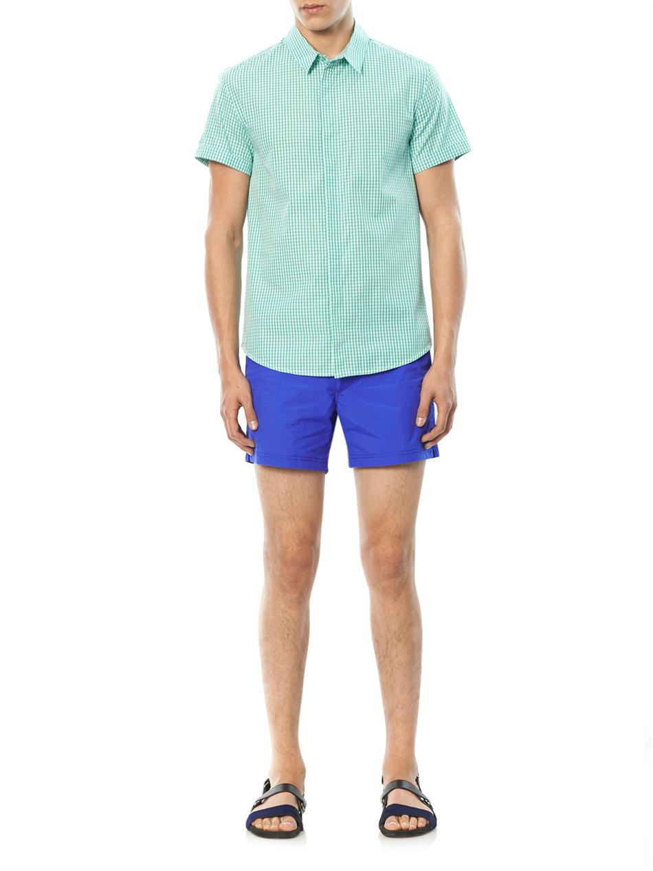 cbccc70246 Sunspel Front-Pocket Swim Shorts in Blue for Men - Lyst