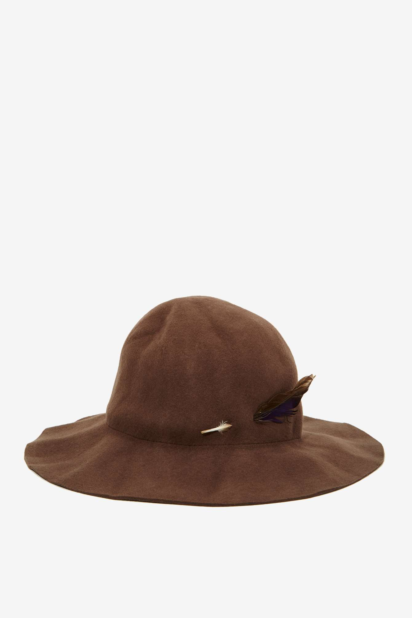 32f6d8cf1518a Nasty Gal Brixton Jethro Wool Hat in Brown - Lyst