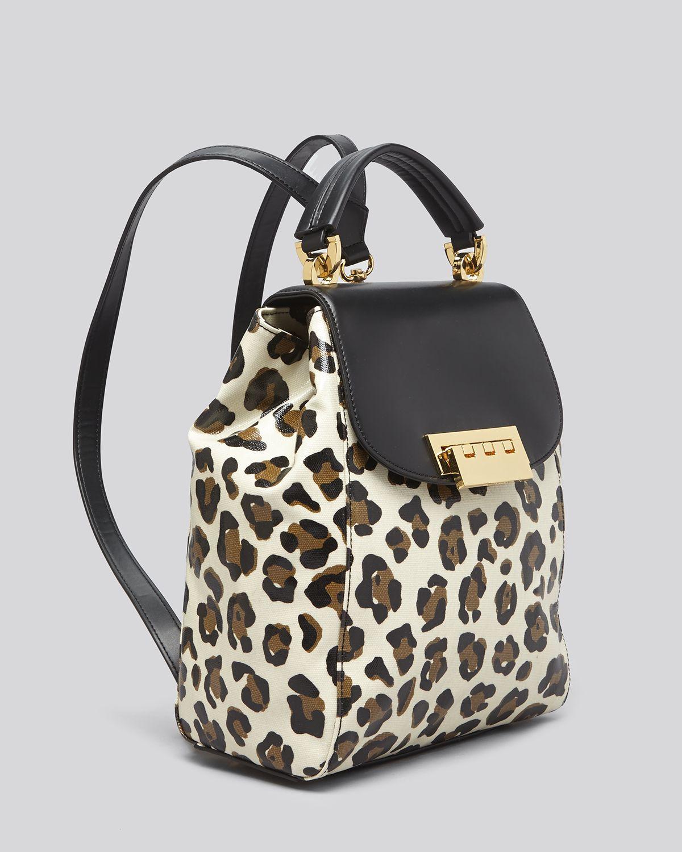 Lyst Zac Zac Posen Backpack Eartha Leopard Print