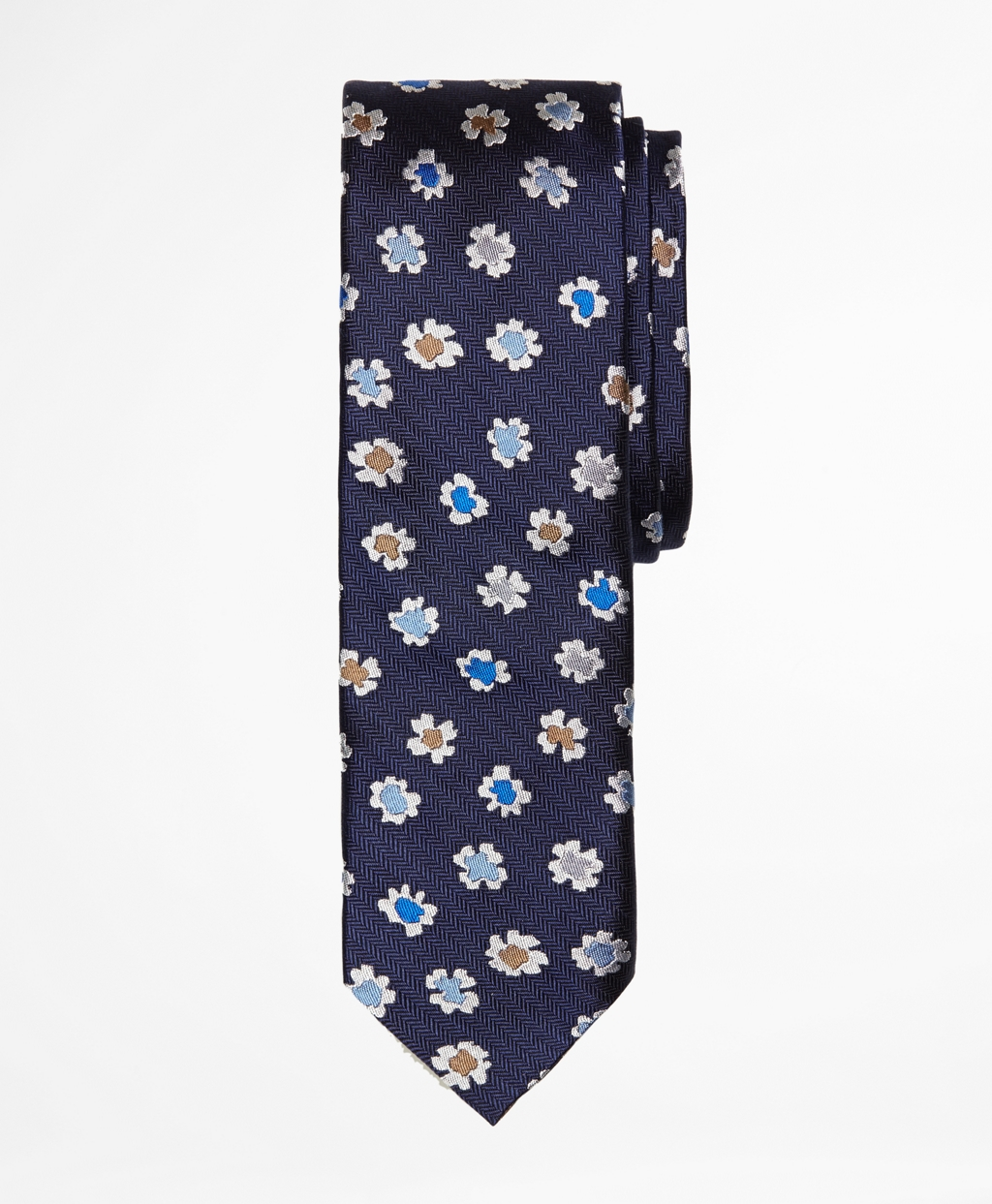 Lyst - Brooks Brothers Floral Slim Tie in Blue for Men
