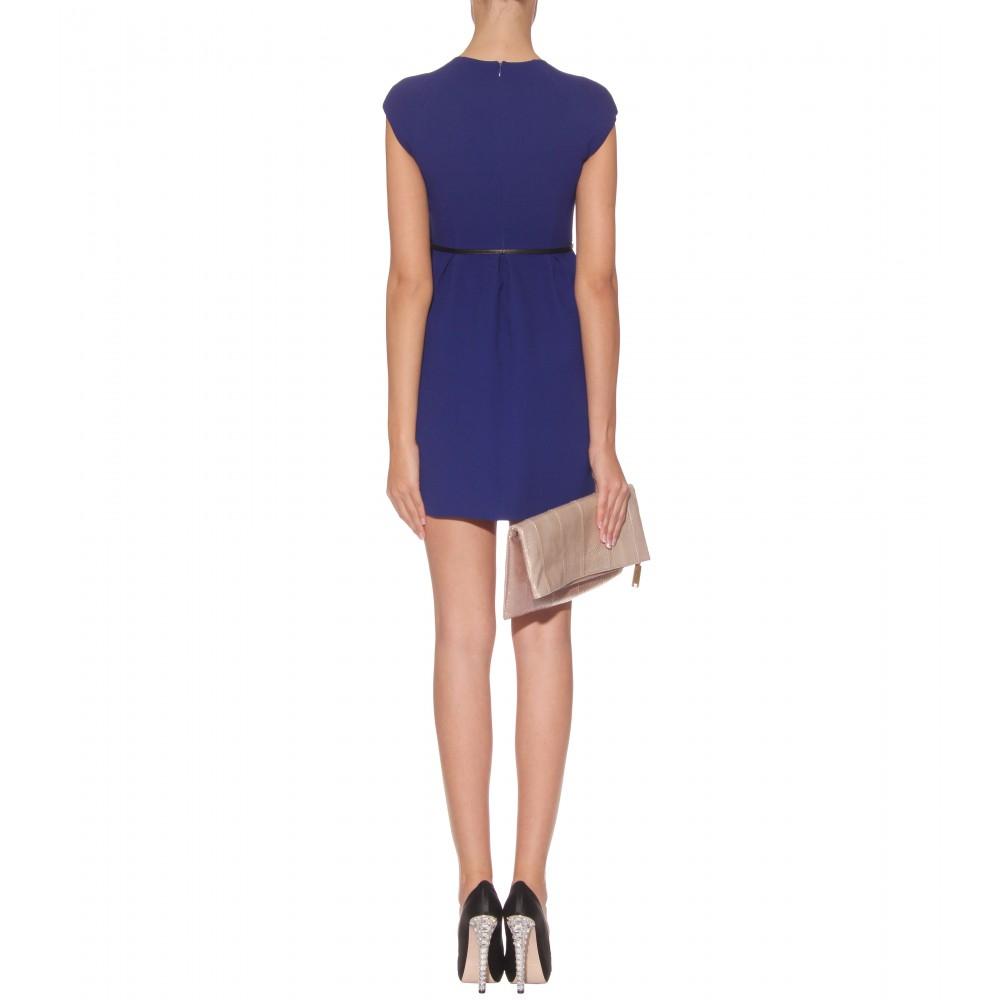 miu miu belted shift dress in blue lyst
