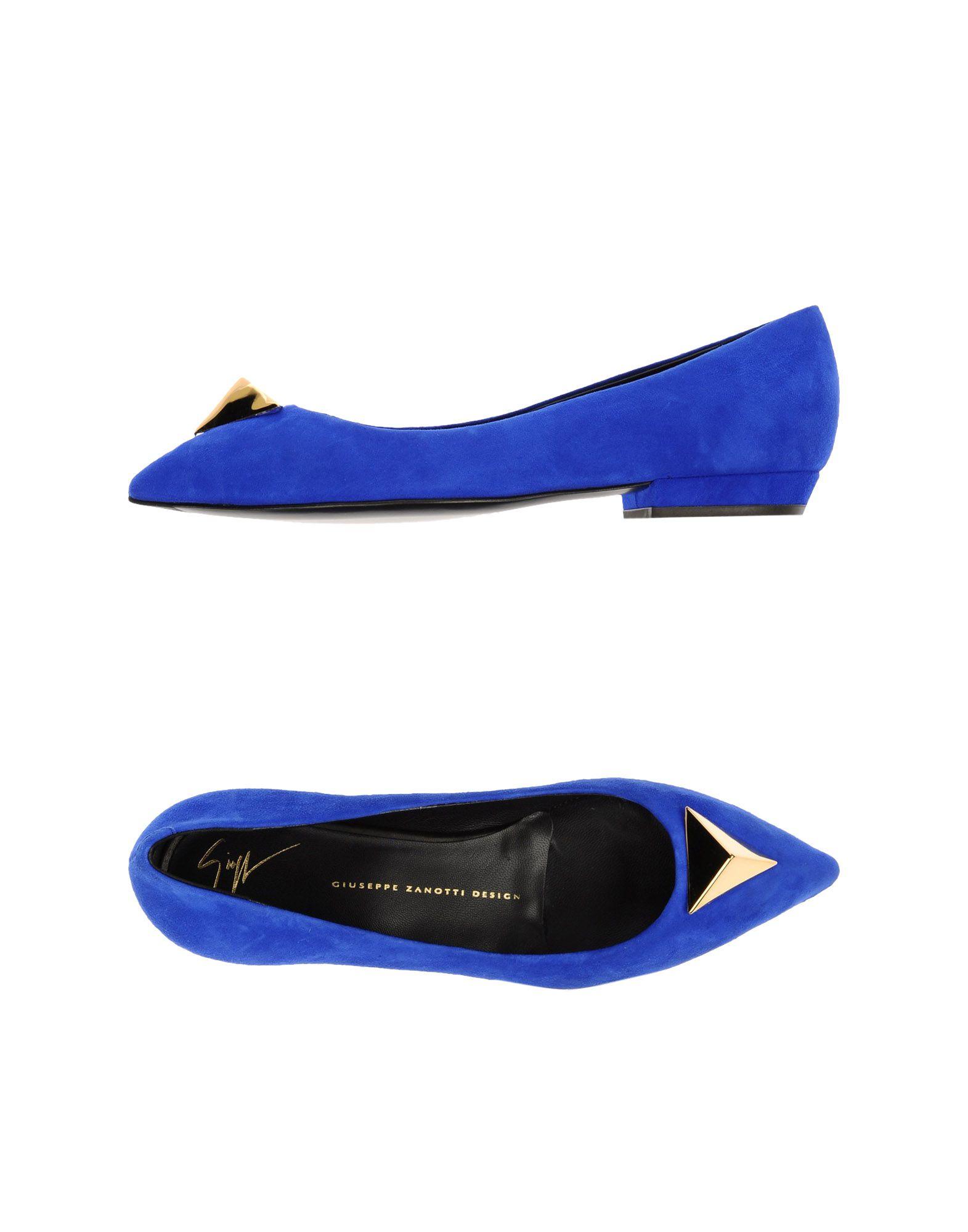 Giuseppe Zanotti Ballet Flats In Blue (Bright Blue) | Lyst
