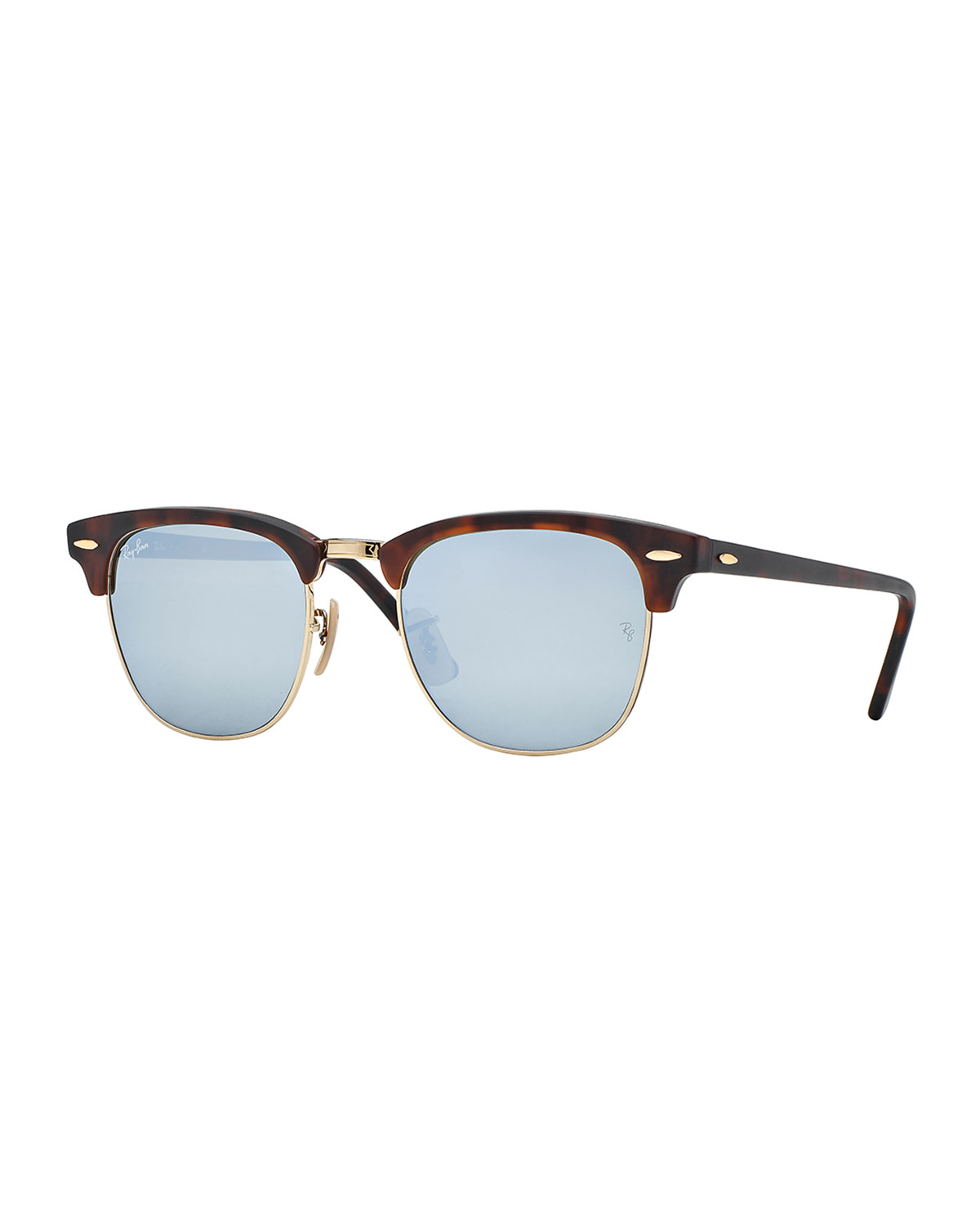 Ray-ban Clubmaster Sunglasses With Silver Mirror Lens in ...