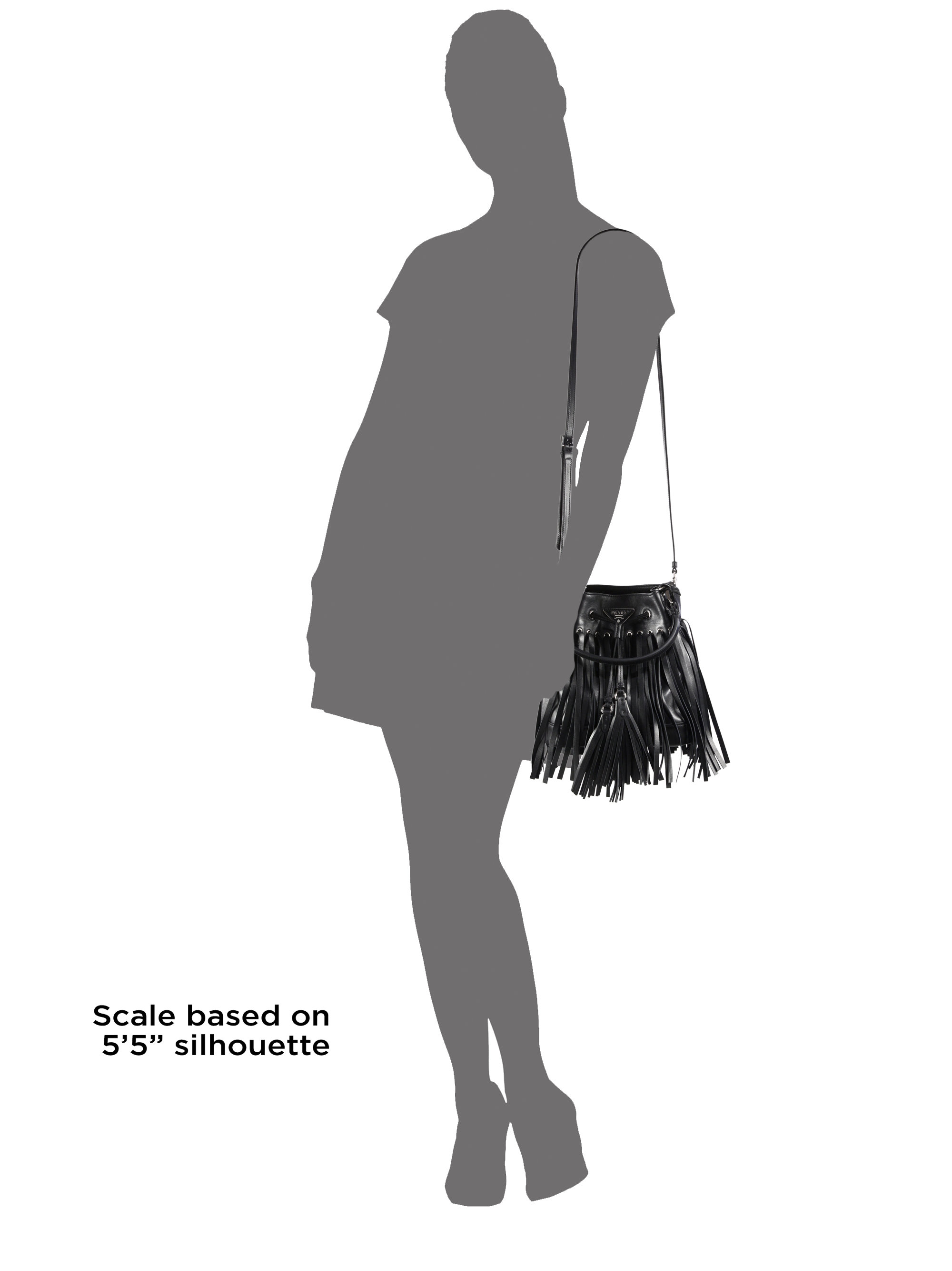prada men messenger bag - Prada Leather Fringe Bucket Bag in Black (NERO-BLACK) | Lyst