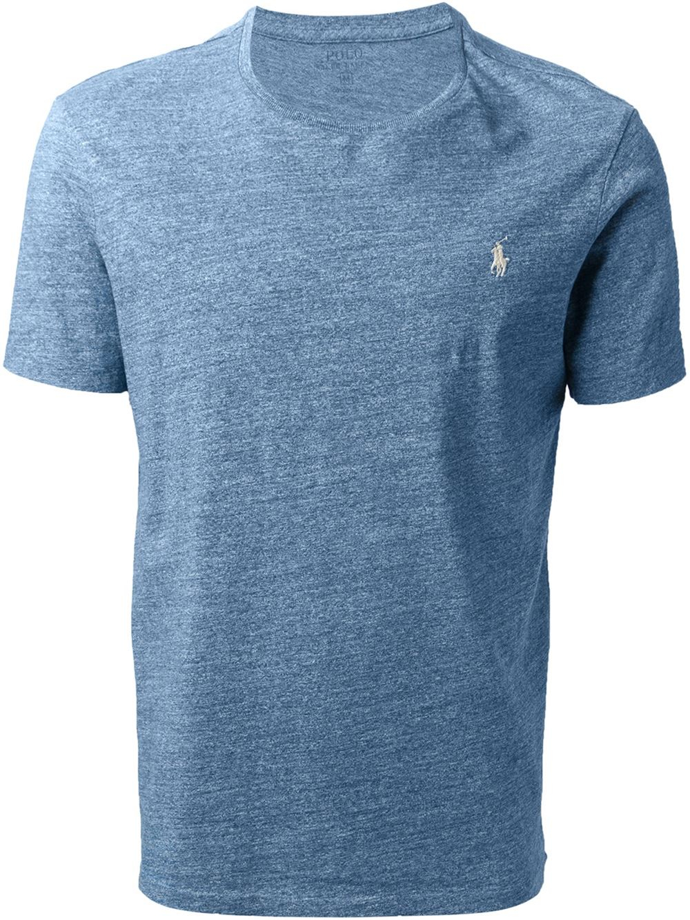 polo ralph lauren custom fit t shirt in blue for men lyst