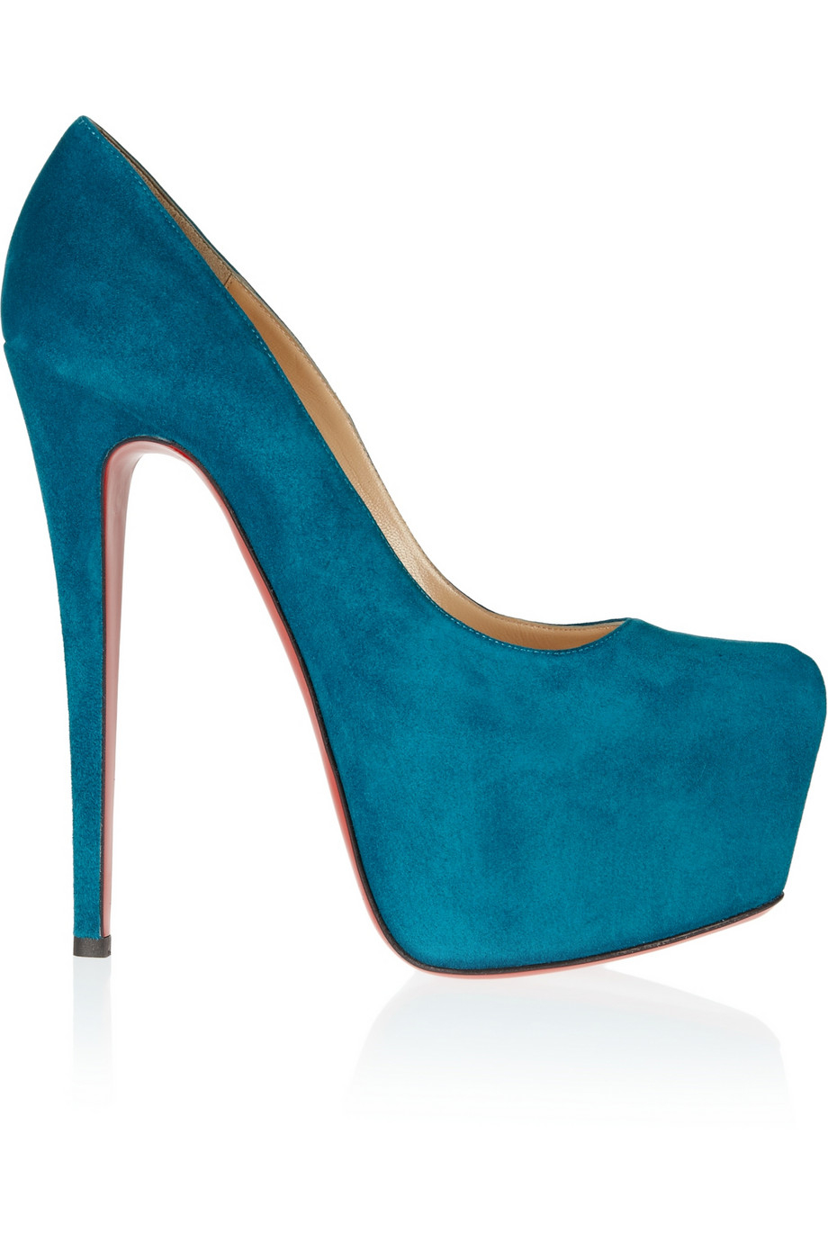 Blue Suede Shoes Wedges Peacock