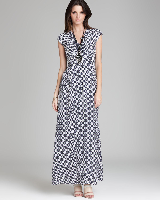 7a66ec7065f422 Weekend by Maxmara Maxi Dress Afoso Silk Crepe De Chine Ikat Print ...