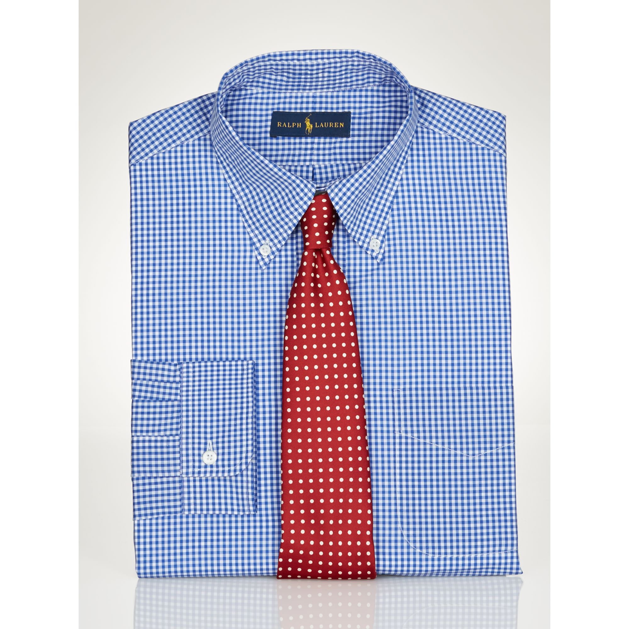 Lyst Polo Ralph Lauren Slim Fit Gingham Dress Shirt In