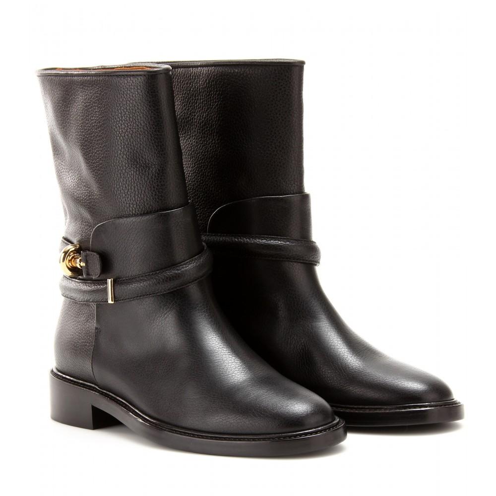 c2b76fc110e8e Balenciaga Leather Biker Boots in Black