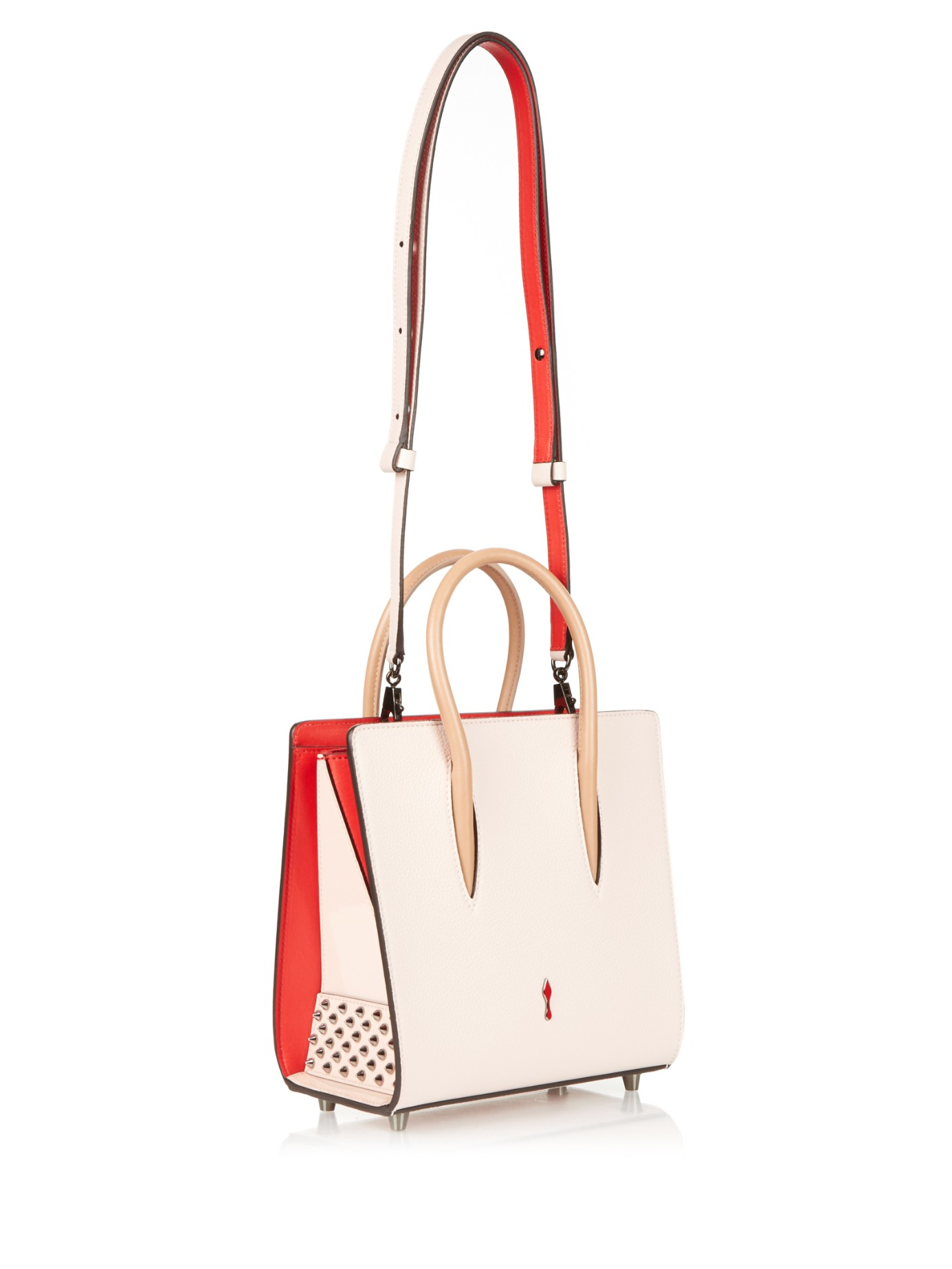0f9d2055f3 Lyst - Christian Louboutin Paloma Small Leather Tote in Natural