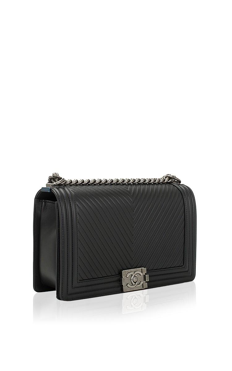 a2c1851fd88c Lyst - Madison Avenue Couture Chanel Black Herringbone Chevron ...