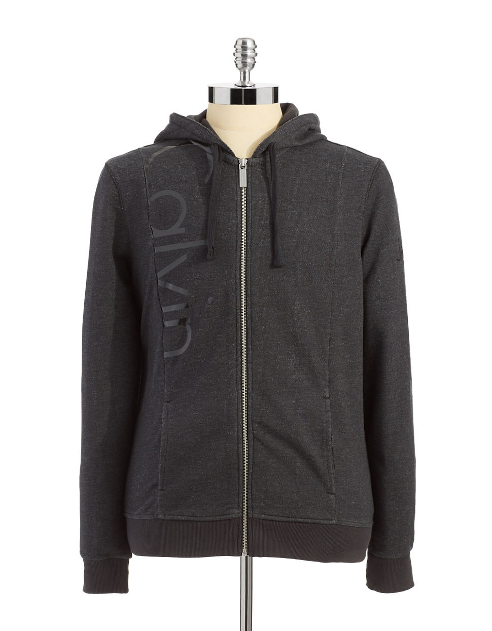 Calvin Klein Jeans Hoodie With Logo Detail in Gray for Men (grey