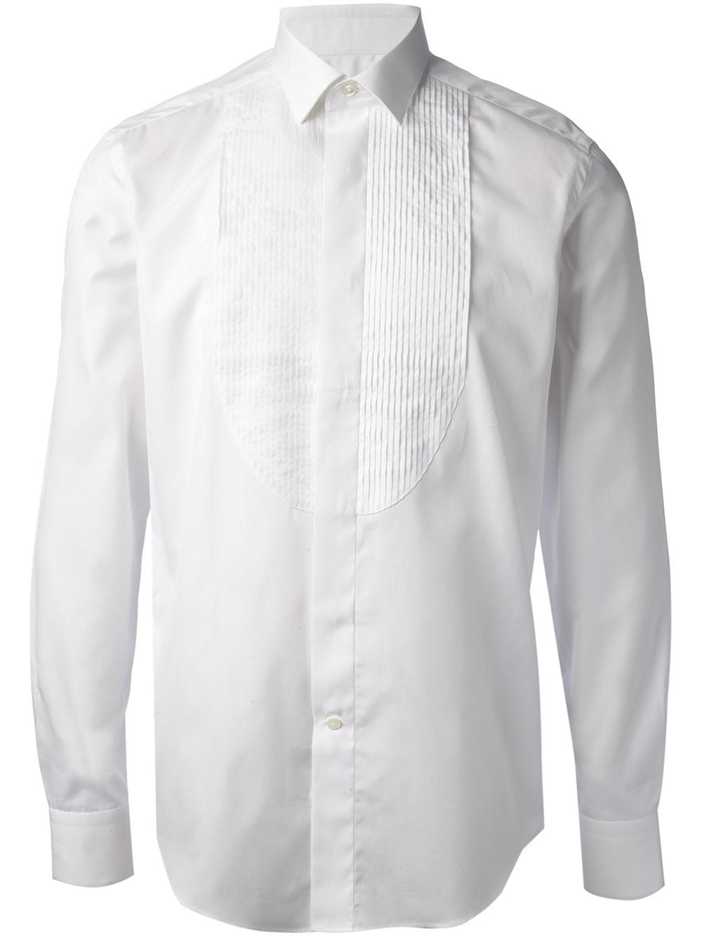 Lanvin Classic Dress Shirt In White For Men Lyst