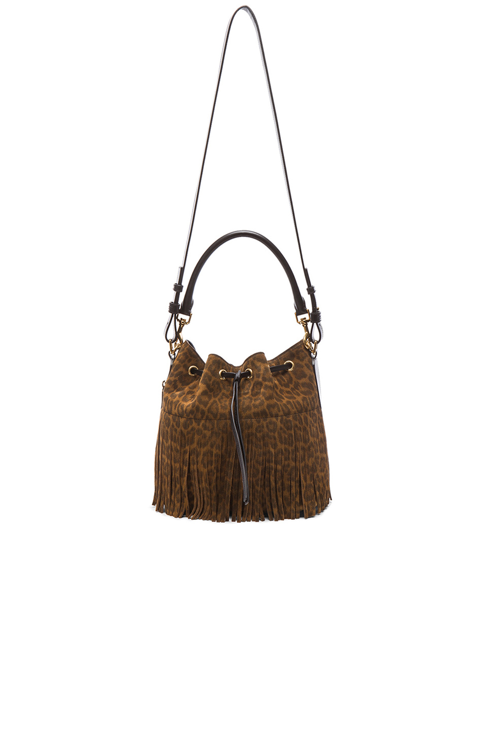 ysl handbag - emmanuelle small suede fringe hobo bag, tan