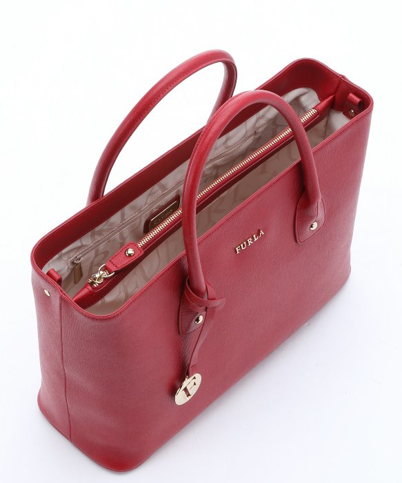 Furla Cabernet Leather Medium 'josi' Tote in Red | Lyst