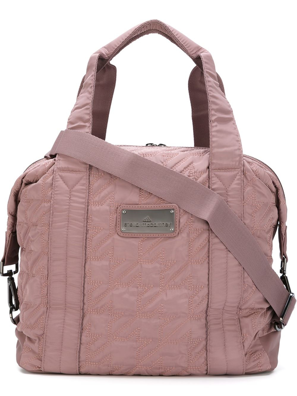 Lyst - adidas By Stella McCartney Quilted Sports Bag in Pink 3a38ba0b766aa