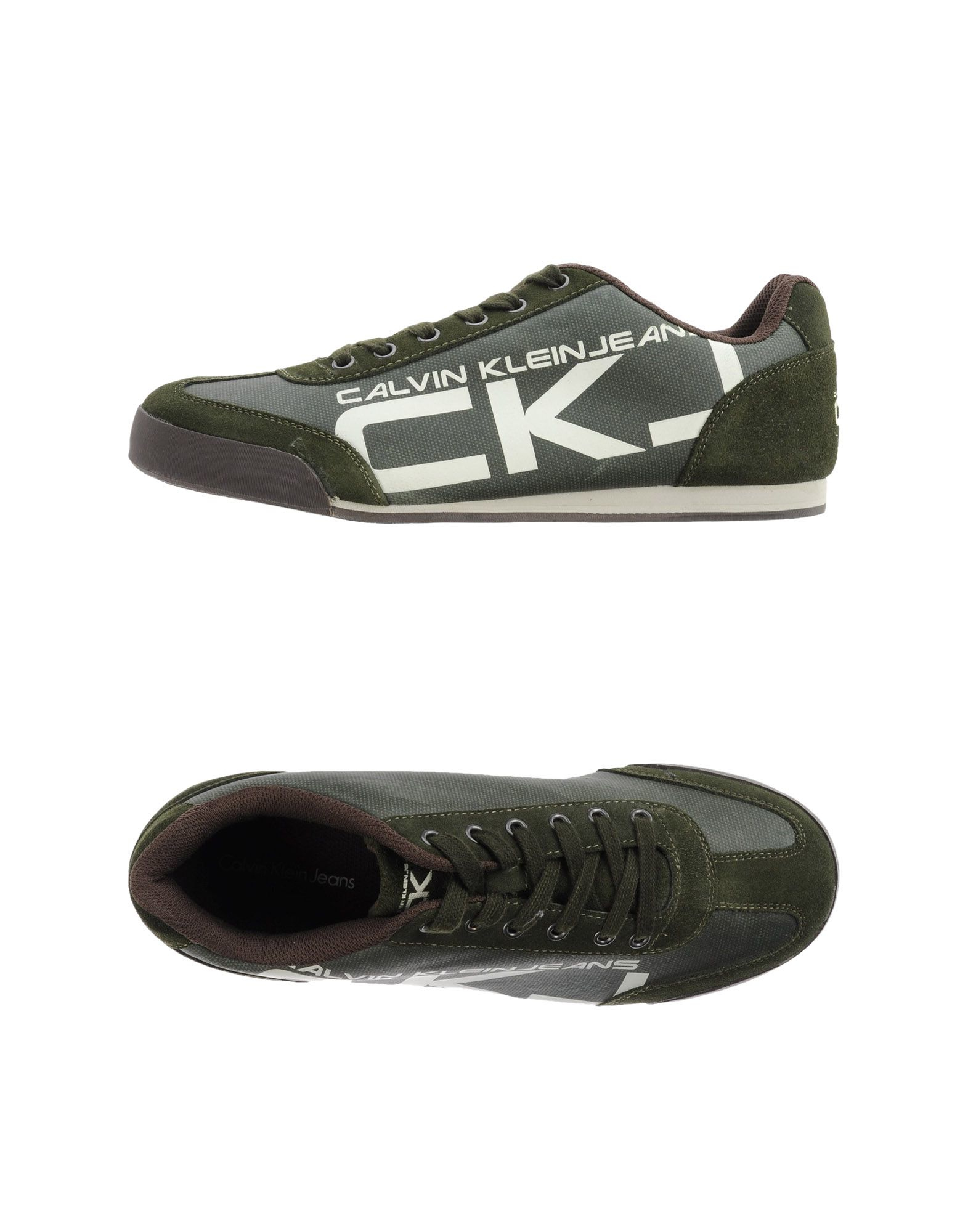 calvin klein jeans low tops trainers in green for men lyst. Black Bedroom Furniture Sets. Home Design Ideas