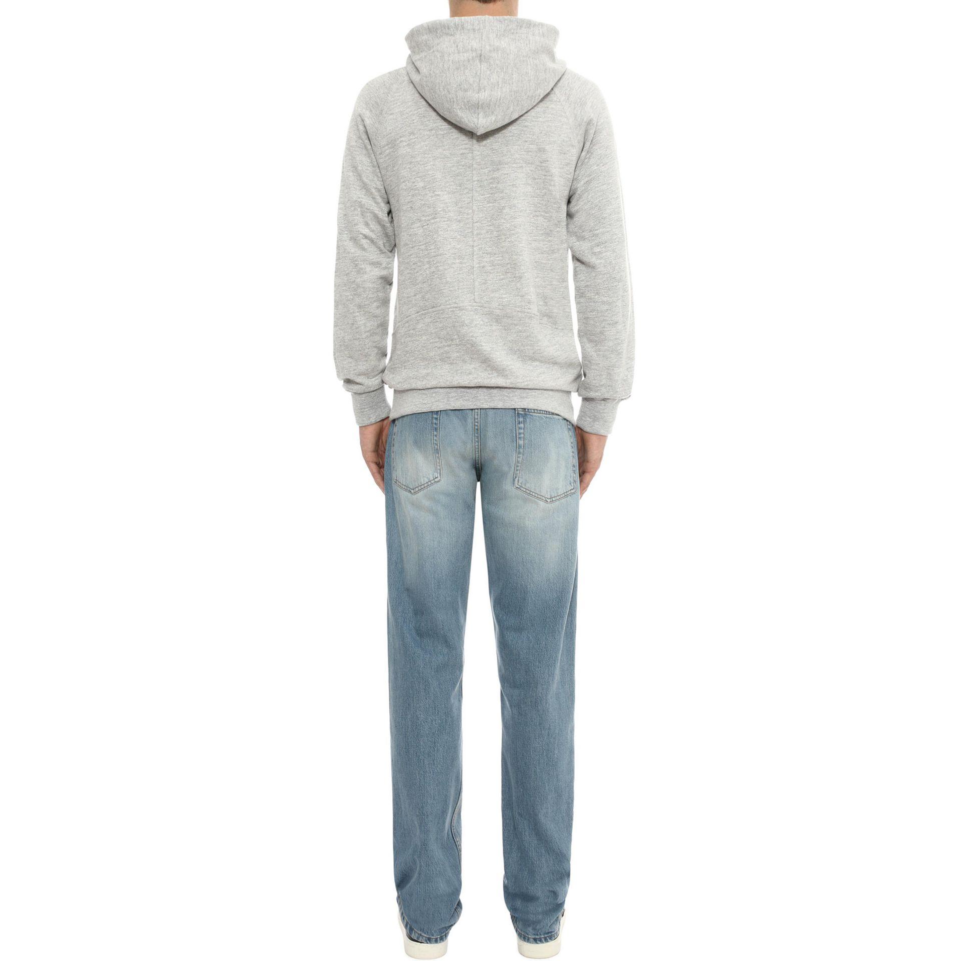 alexander mcqueen asymmetric zip up hooded sweatshirt in gray lyst. Black Bedroom Furniture Sets. Home Design Ideas