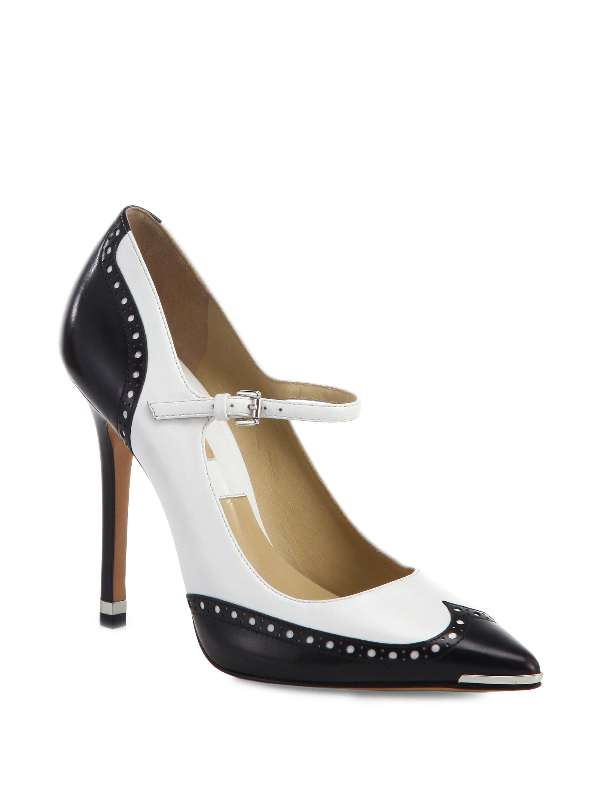 How To Wear Black And White Spectator Shoes