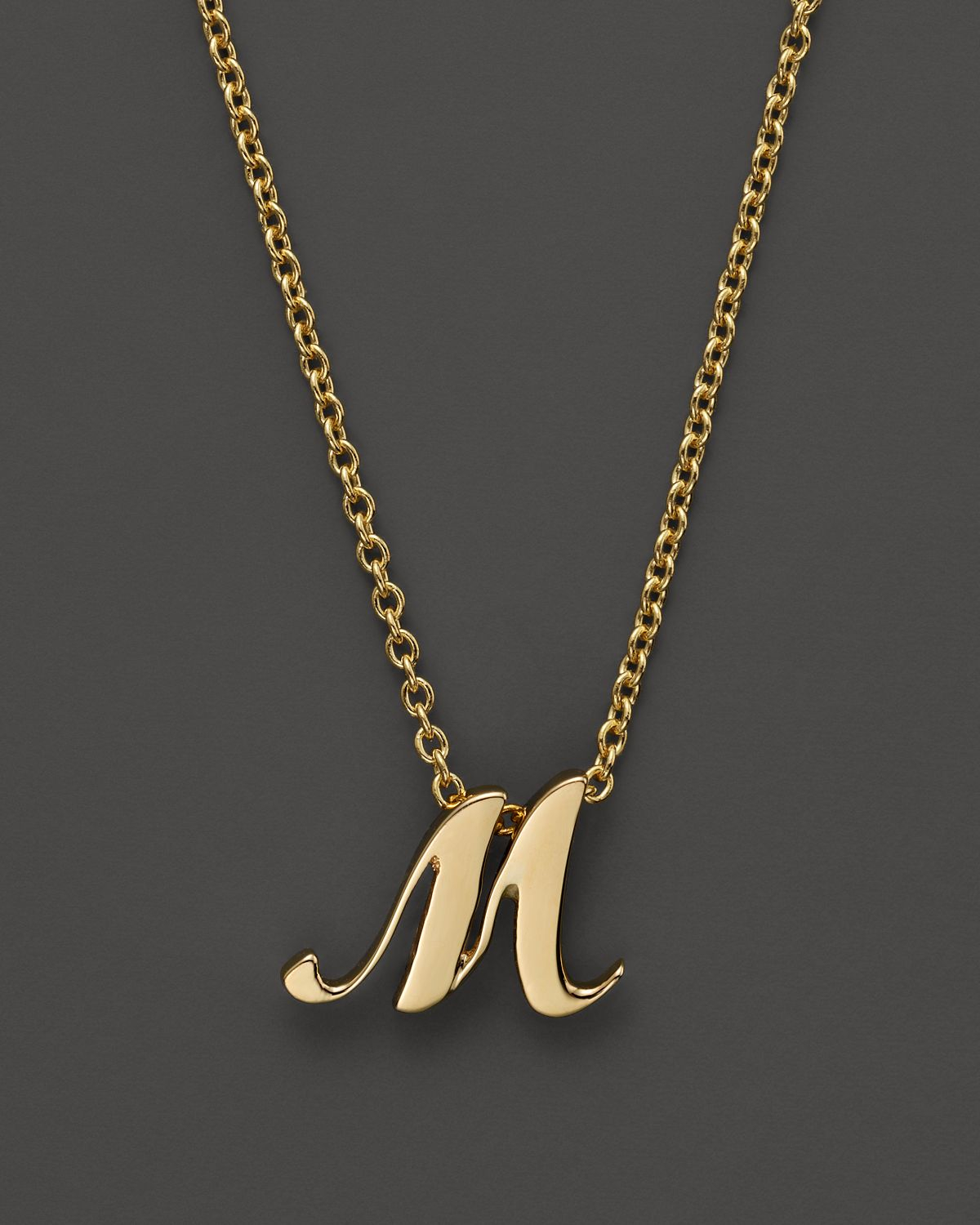 roberto coin 18k yellow gold letter initial pendant