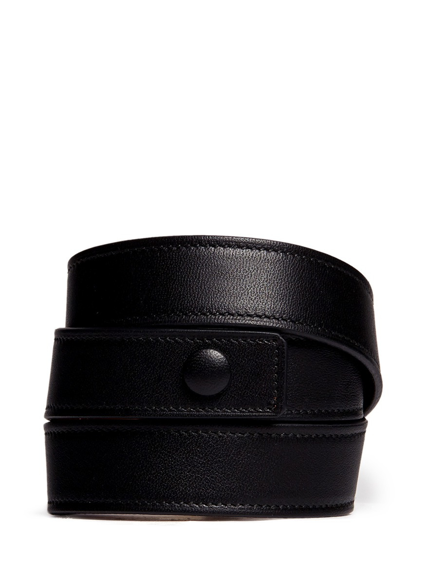 Givenchy Obsedia Stud Triple Wrap Leather Bracelet In