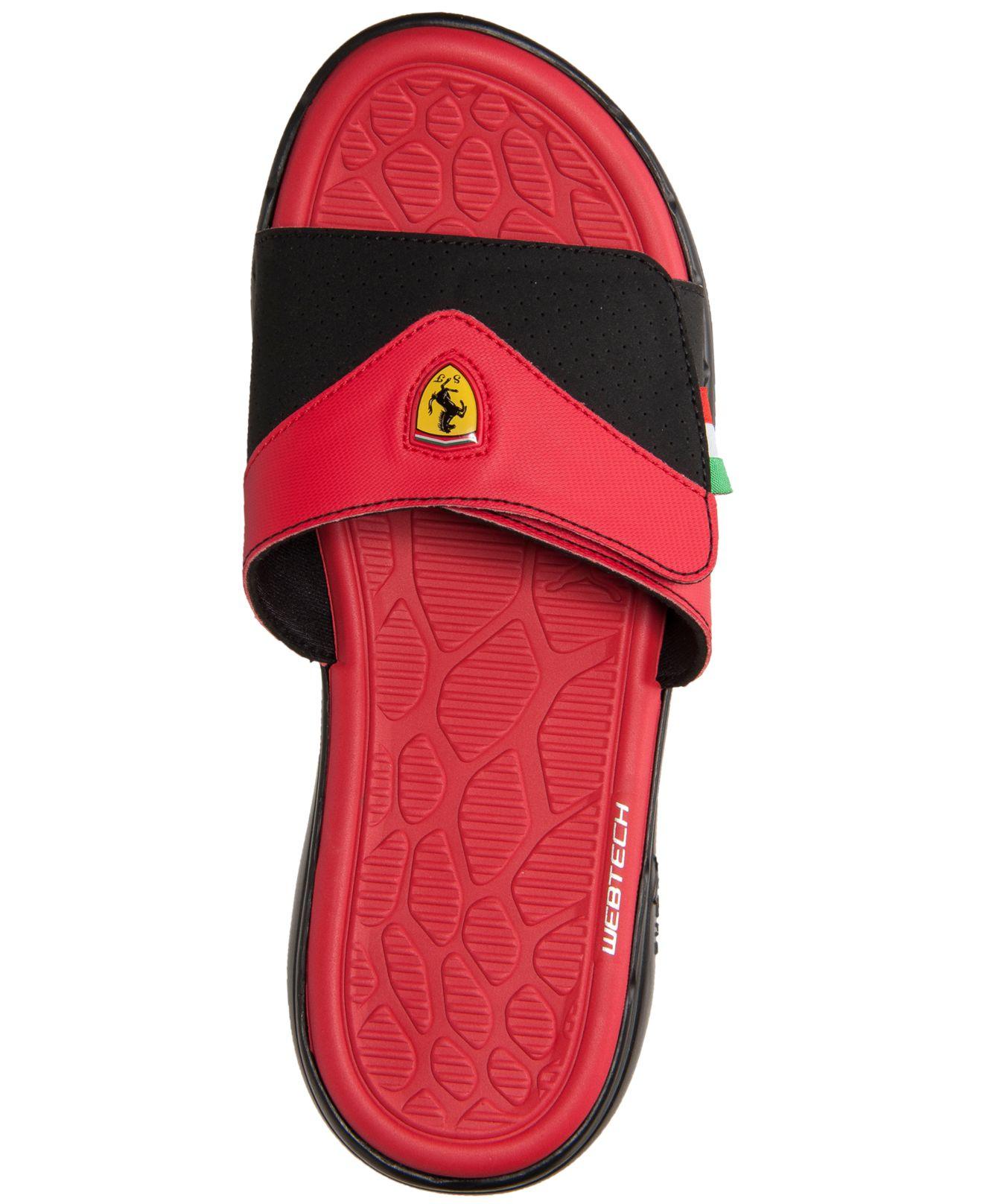 Lyst Puma Men S Ferrari Slide Sandals From Finish Line