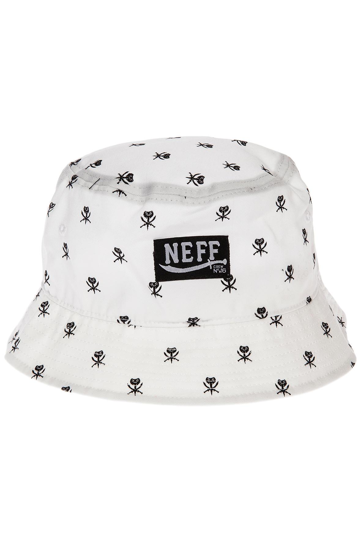 Lyst - Neff The Sultans Bucket Hat in White for Men e878b7ebc5f