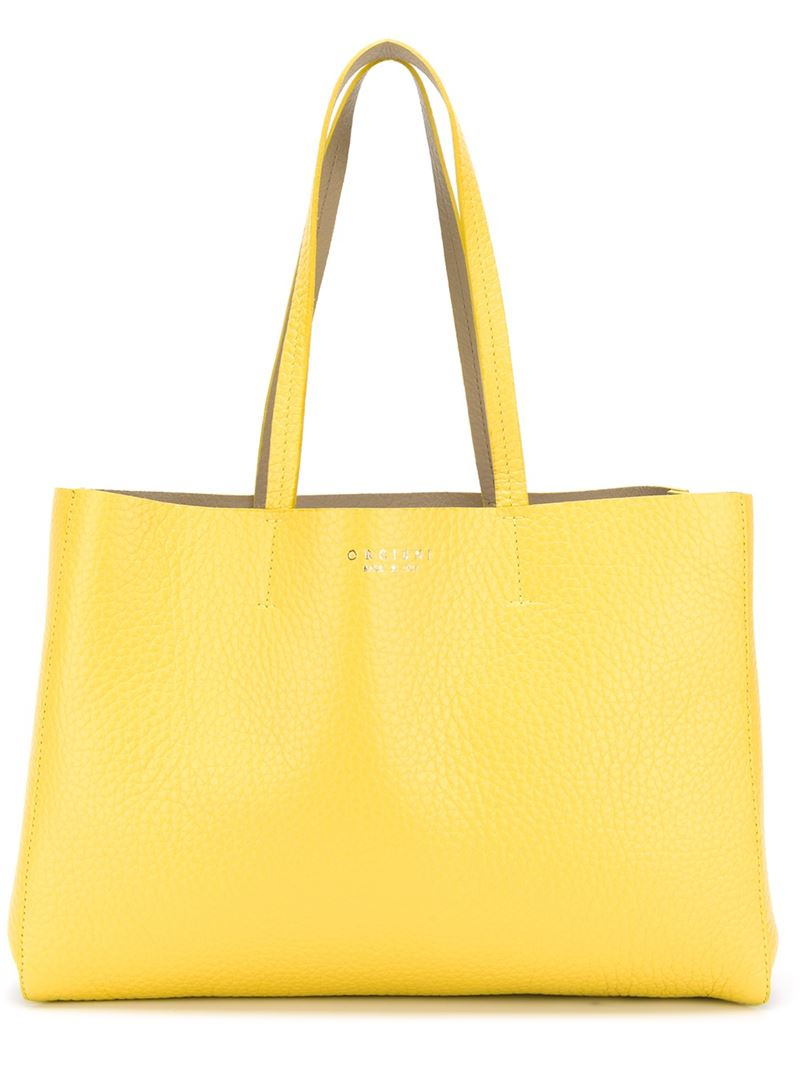 Orciani Classic Tote Bag in Yellow | Lyst