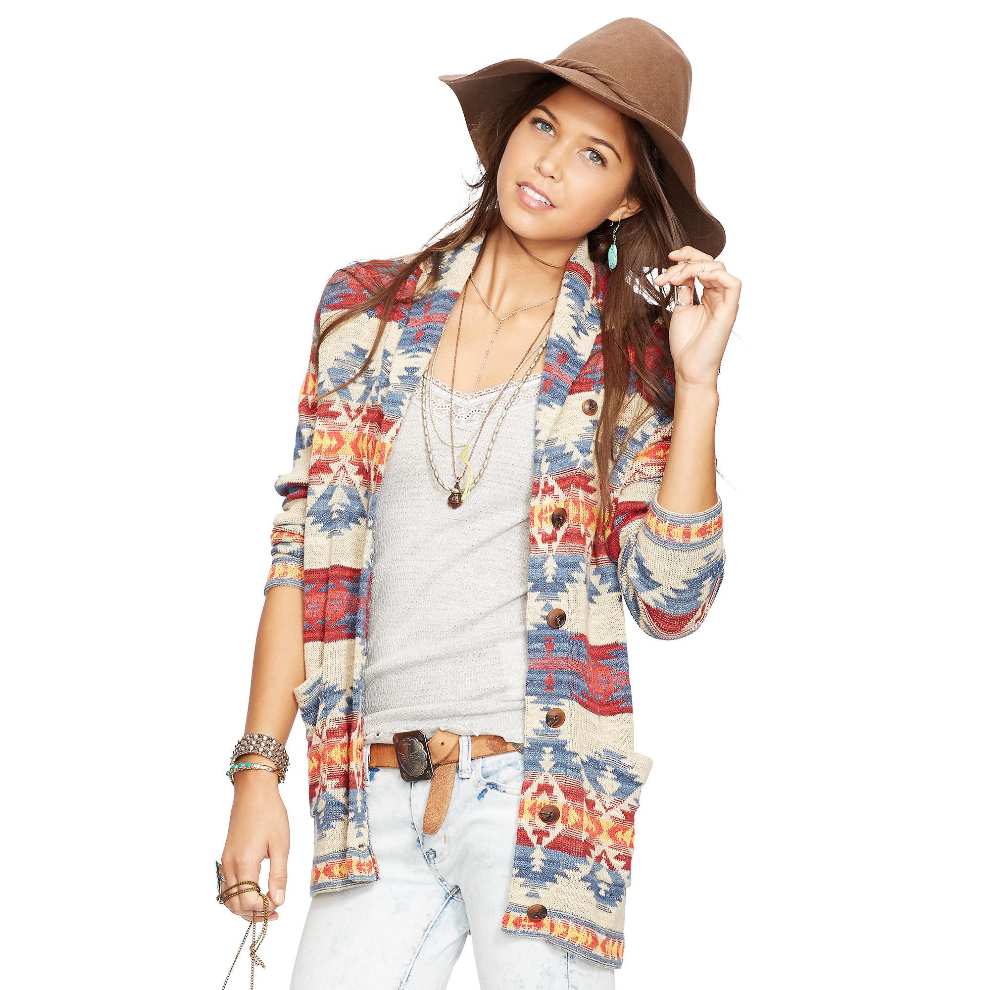 Denim & supply ralph lauren Cotton Boyfriend Cardigan | Lyst