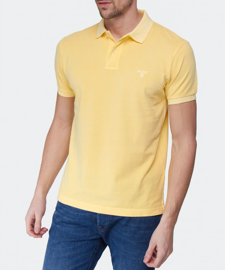 Lyst Gant Sunbleached Polo Shirt In Yellow For Men