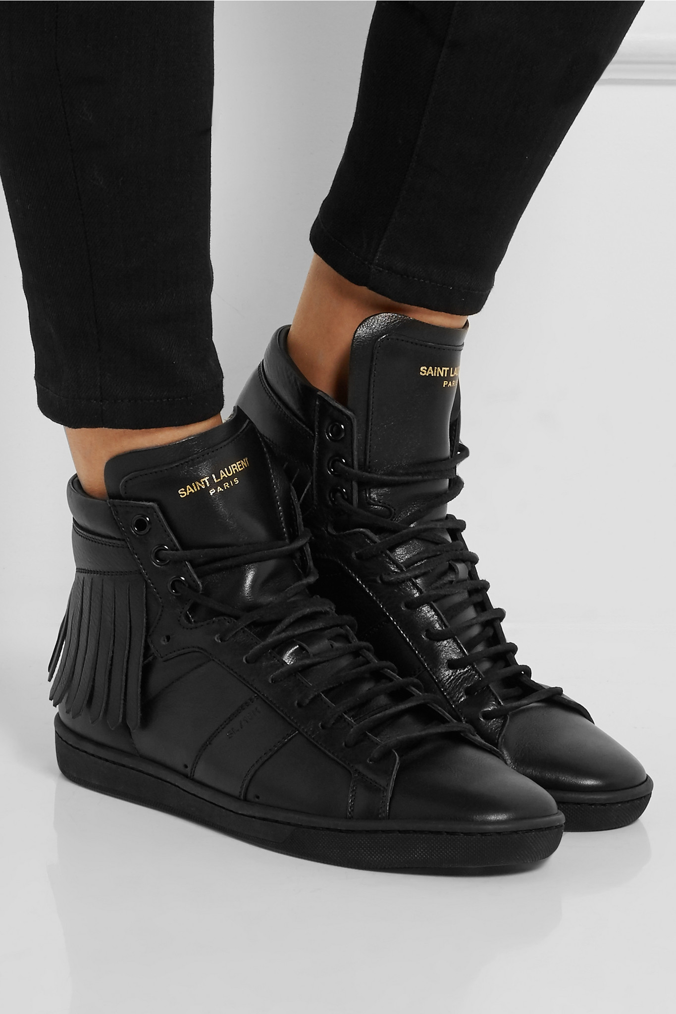 Saint LaurentLeather High-Top Sneakers in . Xu7JvmCL