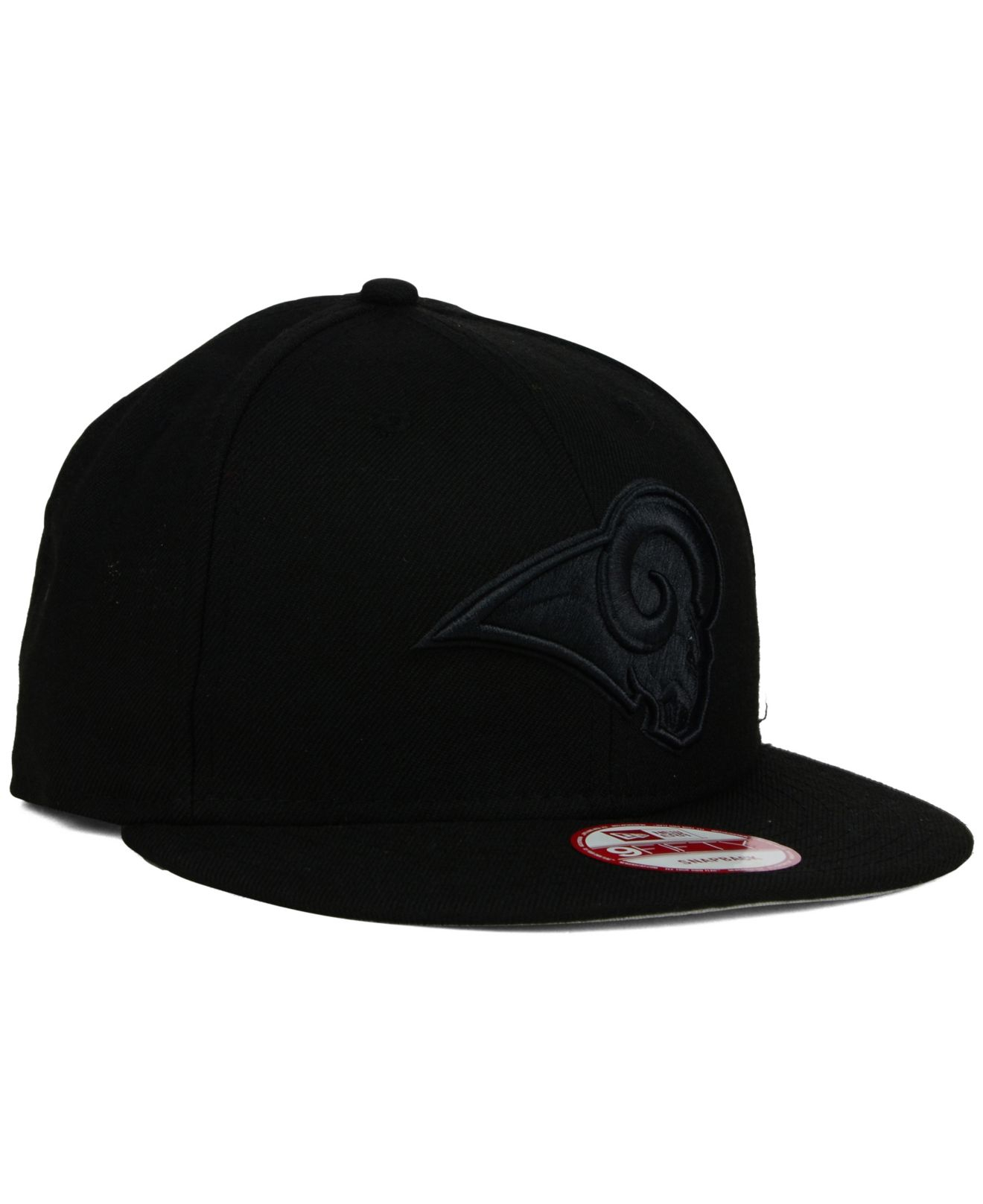 212dd3744 Lyst - Ktz St. Louis Rams Nfl Black On Black 9Fifty Snapback Cap in ...